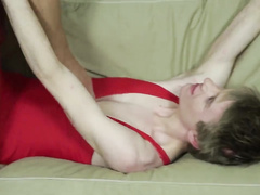 Double penetration of young sweet asshole