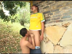 Remarkable Latino couple is humping outdoors