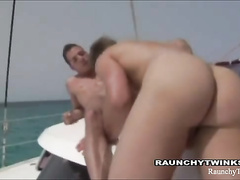 Exciting bareback fuck on the yacht