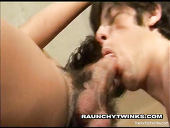 Curly hunk got sucked and hotly excited