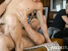 Wild bareback twink orgy is getting hotter