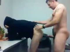 Skinny dude got bent over and fucked hard