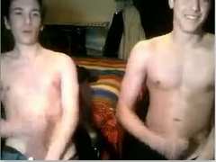 Two young boyfriends got naked at front of webcam