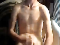 Amateur cute guy is masturbating to get high!