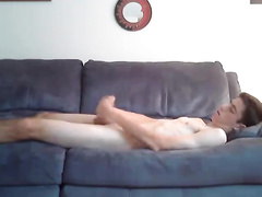 The couch is perfect place to jerk off and relax