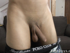 Cute gay friends are recording hot actions on camera
