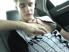 Gay dude hooks teen blonde twink and picks him up