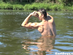 Beautiful young gay dude is steamingly exciting from gentle fondling
