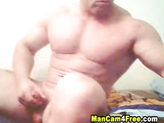 Rocky big twink is hotly exciting and pleasuring dick masturbation