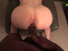 Teen twink enjoys rough interracial gay fuck with black hunk boyfriend
