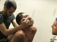 Fuck hungry fags are pleasuring hardcore gay threesome