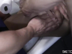 Handsome young twink enjoys being fucked hard in the bathroom
