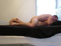 Skinny twink gets on top and fucks his room mate in the ass