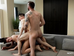 Watcher Joins in Couples Bareback!