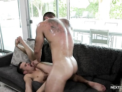 Straight Hunk Barebacks Boy's Younger Twink Brother